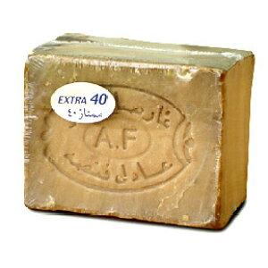 アレッポの石鹸 エキストラ40(EXTRA40) 約180g 無添加オリーブ石鹸│アレッポ石鹸 シリア産 アデルファンサ社製 オリーブオイル ローレルオイル しっとり保湿 乾燥肌 オイル肌 赤ちゃん 美容石