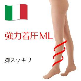 【着圧ストッキング】メディカルステイフィット パンスト140デニール M-L ヌーディーベージュ 【強力着圧 レディース 上級者向け 】弾性ストッキング 医療用機器 細みえ 美脚 履くだけ