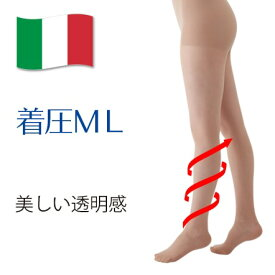 【着圧ストッキング】メディカルステイフィット パンスト70デニール M-L ヌーディーベージュ 【レディース 透明感 素肌感】弾性ストッキング 医療用機器 細みえ 美脚 履くだけ