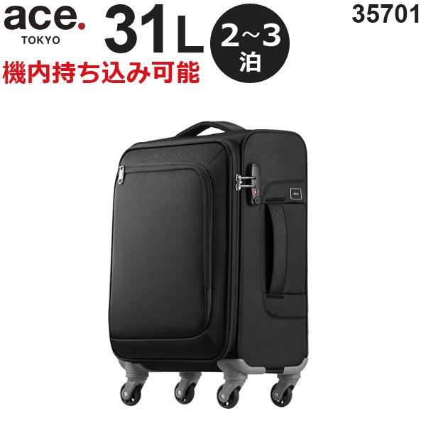 【各種利用でポイント最大24倍!】 ace.TOKYO LABEL ロックペイントSS (31L) ソフトキャリー 2〜3泊用 機内持ち込み可能 35701