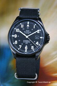 guraishin GLYCINE手錶Combat Automatic(戰鬥自動)黑色PVD/黑色尼龍吊帶3815.99