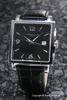 漢密爾頓手錶HAMILTON Jazz Master Square Auto(爵士主人廣場自動)黑色/黑色皮革H32415735