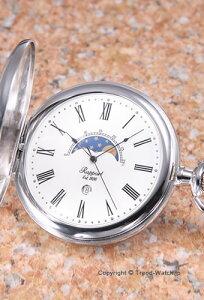 ラポート 懐中時計 RAPPORT (ポケットウォッチ) ムーンフェイズ ホワイト PW81