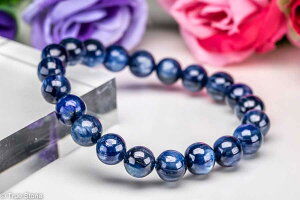 カイヤナイト ブレスレット 8mm-8.9mm 藍晶石 らんしょうせき パワーストーン 天然石 原石