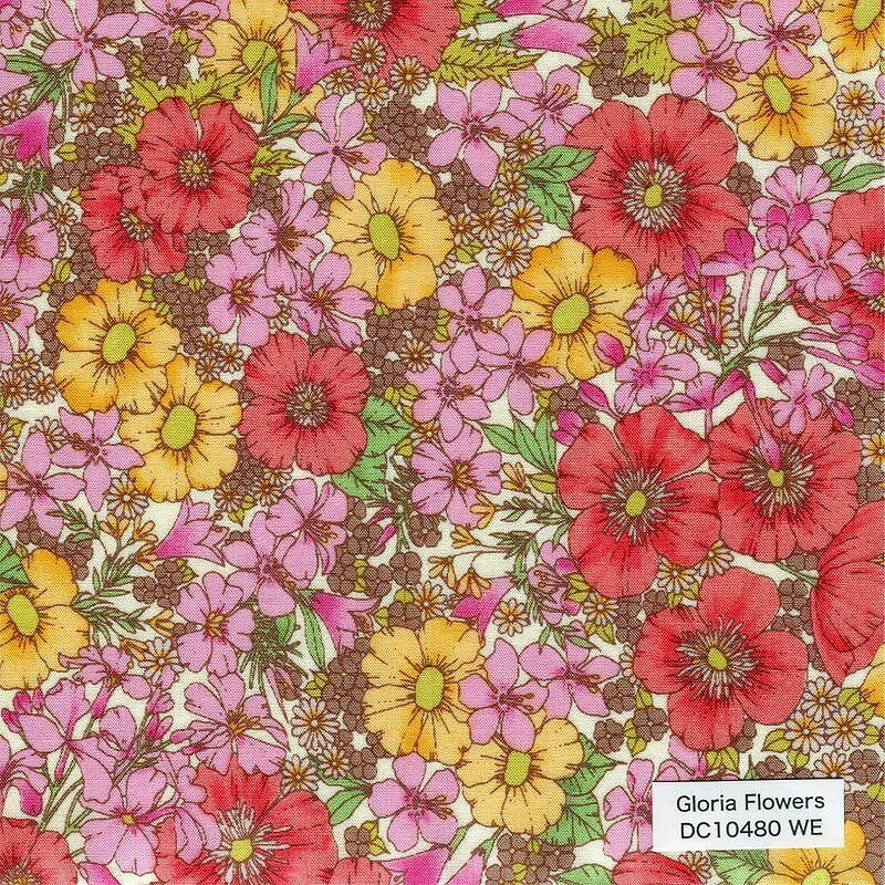 リバティプリント 生地 Gloria Flowers グロリアフラワーズ DC10480-TEE-WE 【数量×50cm単位】