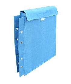 【ネコポスで送料無料】図面袋 布製 日本製 (1袋入り) A4 4穴 穴径4Φ マチ幅5cm マジックテープ ハトメ有り 業務用 ZH-1501