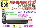 【SA-51067】8CH AHD-H&AHD&CVBSアナログ対応 DVR録画機 (1080p時:12fps/ch または 720p&アナログCVBS(960...