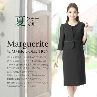 Cool black formal mourning dress formal dress dress washable washable same day shipment Lady's M L, LL m306 for the summer