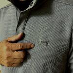 NEW!【カスタム特注】【送料無料】アンダーアーマーゴルフ防水長袖ストーム・スナップ・モック