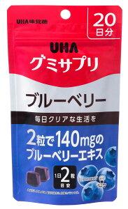 UHA味覚糖 グミサプリ ブルーベリー 20日分