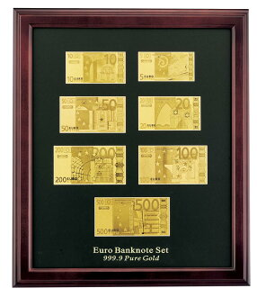 纯金箔欧元纸币安排