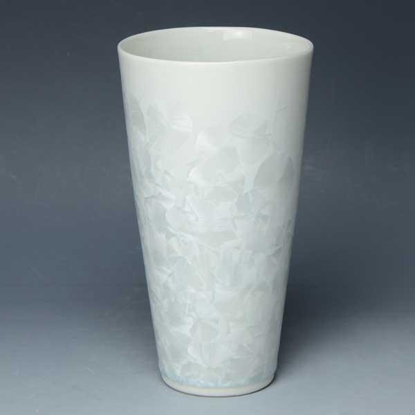 京焼 清水焼 京 焼き 京焼き 酒器 ビアカップ 1客 紙箱入り 花結晶(自) はなけっしょう しろl
