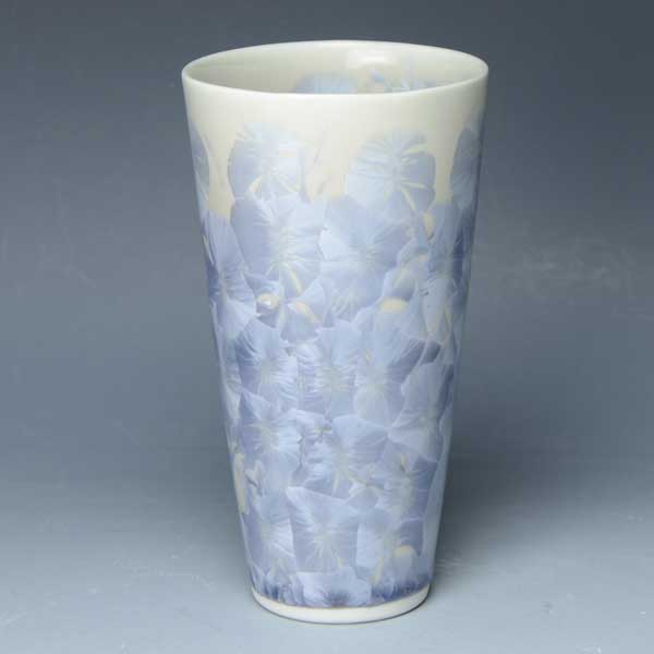 京焼 清水焼 京 焼き 京焼き 酒器 ビアカップ 1客 紙箱入り 花結晶(銀藤) はなけっしょうぎんふじ