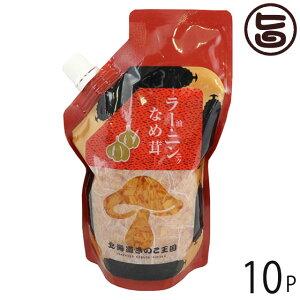 北海道名販 ラー油・ニンニクなめ茸 スタンドパック 400g×10P 北海道 人気 定番 土産 惣菜 にんにくの入った食べるラー油 条件付き送料無料