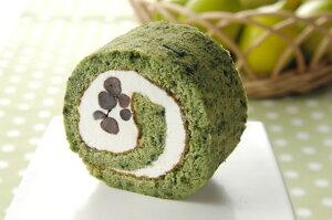 【送料無料】新登場♪【生クリーム】よもぎロールケーキ38cm(冷凍にて配送) 新食感!新潟県産コシヒカリの米粉で作りました。粘りともちもち感がたまりません♪38cmのロングサイズでパ