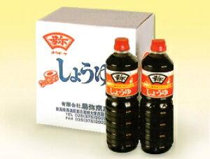 【送料無料】】「こだわり醤油」杉樽でじっくり2年間熟成発酵した風味ある香りの月印醤油1リットル×6本セット