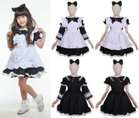 ハロウィン 衣装 コスチューム コスプレ 仮装 女の子 子ども 子供 キッズ 小学生 保育園 かわいい お手軽 アリス ドレス 3点セット かわいい ふんわりシルエット 120cm 130cm 黒 ブラック