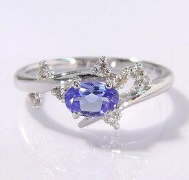 K18 タンザナイト ダイヤモンド リング 「spumare」送料無料 指輪 ゴールド 18K 18金 ブルーゾイサイト ダイアモンド 誕生日 12月誕生石 刻印 文字入れ メッセージ ギフト 贈り物 ピンキーリング対応可能