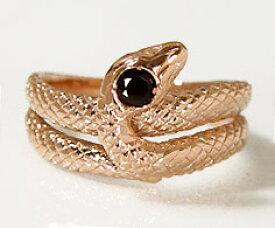 ピンクSV オニキス スネークモチーフ リング指輪 シルバー SILVER 蛇 刻印 文字入れ メッセージ ギフト 贈り物 ピンキーリング対応可能