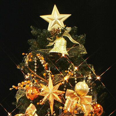 【限定50本】クリスマスツリープレミアムセット180cmオーロラオレンジオーナメントセット北欧おしゃれ