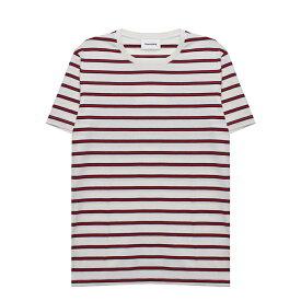 HARMONY (ハーモニー) TONI T-SHIRT (ECRU STRIPED) [Tシャツ カットソー トップス ブランド ストライプ ボーダー カジュアル ストリート メンズ レディース ユニセックス 半袖 UNISEX] [マルチ ストライプ]