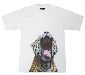 [ 70%OFF COUPON ] AU COURANT (オウ クーラン) FELIN T-SHIRT (WHITE) [Tシャツ カットソー トップス ブランド ジャガー ヒョウ レオパード ストリート モード メンズ レディース ユニセックス 半袖 UNISEX] [ホワイト]
