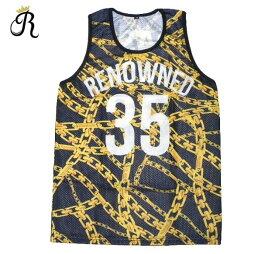 RENOWNED CLOTHING (リナウンド) BASKETBALL JERSEY (BLACK/GOLD) [バスケットボール ジャージ タンクトップ メンズ ユニセックス] [ブラック/ゴールド]