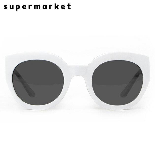 SUPERMARKET (スーパーマーケット) CANNED GOODS SUNGLASSES (COOKIES & CREAM) [サングラス/スモークレンズ/ラウンド/ハンドメイド/UVカット/UNISEX] [ホワイト]