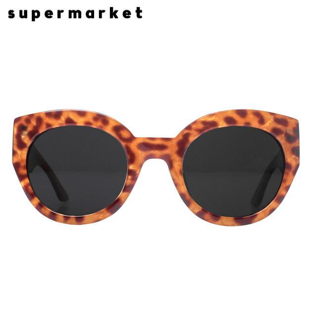 SUPERMARKET (スーパーマーケット) CANNED GOODS SUNGLASSES (STEAK) [サングラス/スモークレンズ/ラウンド/ハンドメイド/豹柄/UVカット/UNISEX] [レオパード]