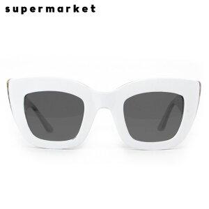 [半額50%OFF] SUPERMARKET (スーパーマーケット) CAT FOOD SUNGLASSES (COOKIES & CREAM) [サングラス スモークレンズ キャットアイ ハンドメイド ブランド ストリート メンズ ユニセックス 豹柄 UVカット] [ホ