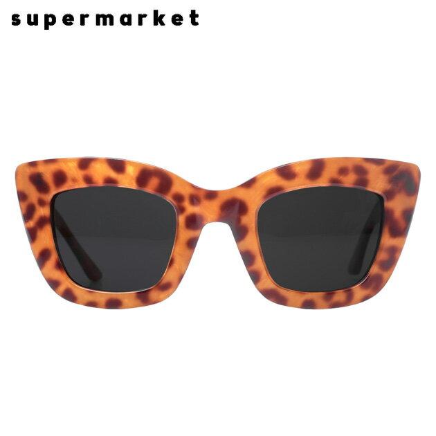 SUPERMARKET (スーパーマーケット) CAT FOOD SUNGLASSES (STEAK) [サングラス/スモークレンズ/キャットアイ/ハンドメイド/豹柄/UVカット/UNISEX] [レオパード]