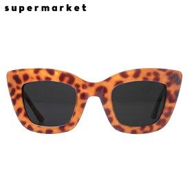 【半額50%OFFセール】SUPERMARKET (スーパーマーケット) CAT FOOD SUNGLASSES (STEAK) [サングラス スモークレンズ キャットアイ ハンドメイド ブランド ストリート メンズ レディース ユニセックス ヒョウ柄 UVカット UNISEX] [レオパード]