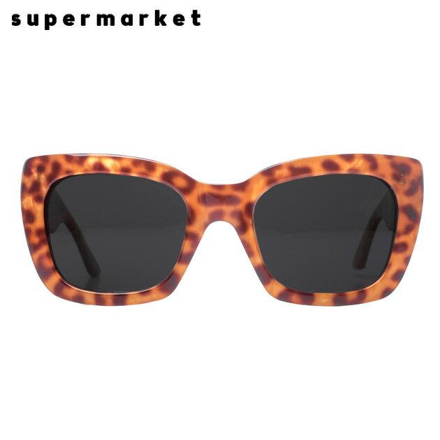 SUPERMARKET (スーパーマーケット) SHOPLIFTER SUNGLASSES (STEAK) [サングラス/スモークレンズ/スクエア/ハンドメイド/豹柄/UVカット/UNISEX] [レオパード]