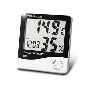 温湿度計 デジタル 大画面 壁掛け 温度計 湿度計 時計 目覚まし アラーム カレンダー 5機能搭載 卓上 マルチ スタンド おしゃれ 熱中症対策