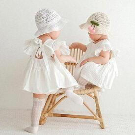 ベビー ワンピース ドレス フリル お祝い プレゼント 誕生日 子供 黒シンプル