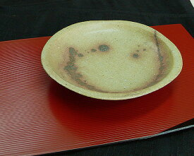 信楽焼 紅点紋取皿