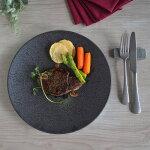 墨縅(すみおどし)27.5cm皿洋食器大皿皿洋食黒い皿おしゃれオシャレ食洗機対応食器業務用イタリアンフレンチディナーメインディッシュレストラン風