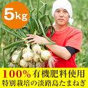 [淡路島玉ねぎ]蜜玉(みつたま)迫田 瞬(さこだしゅん)の100%有機肥料で特別栽培の淡路島たまねぎ(5kg)