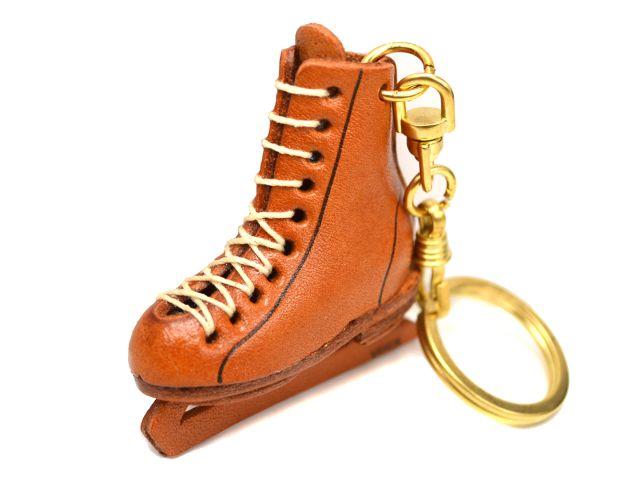 フィギュアスケート靴 キーホルダー【レザー 本革 VANCA バンカクラフト革物語 国産 ハンドメイド 贈り物 即納】