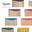 VARCO REAL WOOD デザインカードケース 名刺入れ メンズ レディース 革 本革 ヌメ革 革製 レザー 木 木製 天然木 日本…