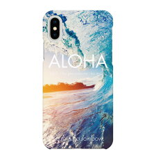 iPhoneXSMax用スマホケースハワイアンモデルOハワイアンハワイHAWAII海写真おしゃれ