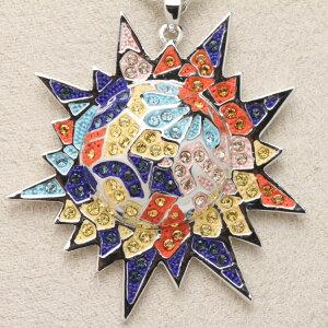 スワロフスキー ネックレス Gaudi Sun ガウディの太陽 オリバーウェバー(OLIVER WEBER) ペンダント 首飾り プレゼント メンズ レディース あなたのハートを鷲掴み 誕生日 おしゃれ ギフト