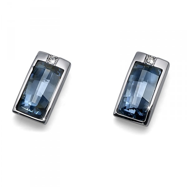 オリバーウェバー(OLIVER WEBER) スワロフスキー ピアス クールな美しさ ブルー (Earring Stream rhod. blue shadediamond) blue 青【RCP】