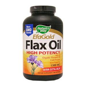 【定期購入】オーガニック フラックスシードオイル(亜麻仁油) サプリメント 1粒1300mg×200ソフトジェルαリノレン酸57%保証。有機アマニ油、あまに油、フラックスオイルのサプリ。コールドプレス製法。植物性オメガ3でDHA、EPAを摂取。Nature's Way