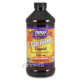 飲むLカルニチン100mg トロピカルパンチ味 473ml(16oz)リキッドタイプだからすぐ吸収! 大さじ1杯でたっぷり1000mgnow foods(ナウフーズ社)