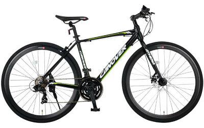 自転車クロスバイク700cライト付きフロントディスクブレーキシマノ21段変速超軽量アルミフレームCANOVERカノーバーCAC-027-DCATHENA