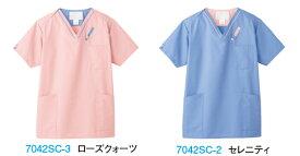 医療用白衣 メディカルウェアスクラブ(男女兼用) 7042SC (SS〜4L)FOLK PANTONEフォーク (FOLK) お取寄せ
