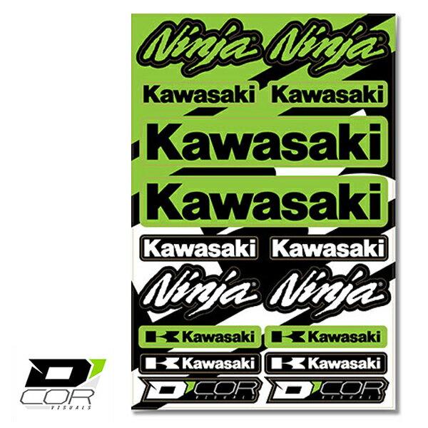 【D'COR Kawasaki Ninja Decal Sheet】ディコール/カワサキ/ニンジャ/デカールシート/ステッカー/スポーツバイク/ロードバイク/Ninja/モータースポーツ【正規品】/【ポイント】05P03Dec16