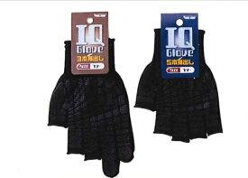 川西工業【KAWANISHI】作業手袋/滑り止め手袋 2228 IQグローブ 3本出し Fサイズ(ブラック) 10組セット