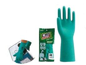 川西工業【KAWANISHI】作業手袋/ゴム手袋 2451 オールコート手袋ケミシールド中厚手 裏毛付 S・M・L・LLサイズ(グリーン) 10組セット